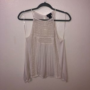 White tank top with lace detailing !